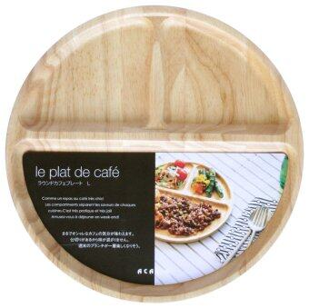 Harga Acacia Wooden Cafe Plate - Natural Wood