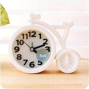 Harga Creat Portable mini Mute children student clock bicycle Desk Table Alarm Clocks gifts favor
