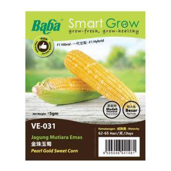 Harga Baba Smart Grow Seeds VE-031 Pearl Gold Sweet Corn (Jagung Mutiara Emas) ±5G