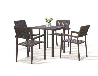 Harga Lavin Rattan Outdoor Dining Set - GS 8121