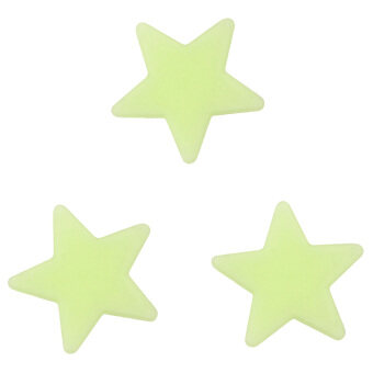Harga HengSong 100Pcs Luminous Stars Home Wall Dark Space Star Stickers Ceiling Baby Kid Room 3cm Green