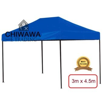 Harga 3m x 4.5m Extra THICKEN SOLID Weight 27KG Foldable Canopy Tent Blue Grade A High Quality