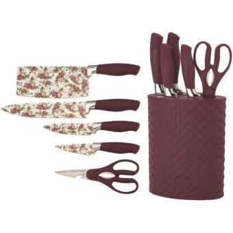 Harga Giacomo 6pcs decorated stainless steel knife set with non-stick coating (MJR)