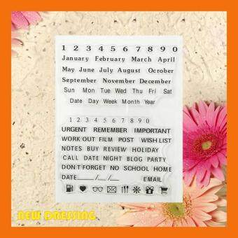 Harga Month and Date Wording Clear Stamp