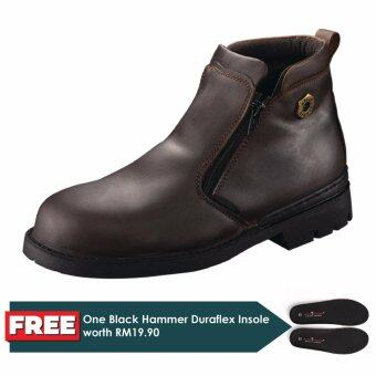 Harga Black Hammer 4000 Series Mid cut Zip on Safety Shoes