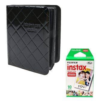 Harga KEEP/Fujifilm Instax Album 64 Photo (Diamond Brick) (Black) + Fujifilm Instax Mini Normal Film (50868+1001)