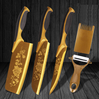 Harga NaVa Golden Divine Rapier Knife Full 5 PCS Set