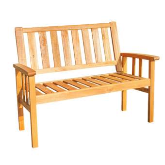 Harga HK New York Bench Chair / Outdoor / Garden Chair (Acacia Wood)