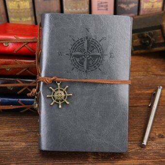 Harga Pirate Anchor Travel Diary Nautical Vintage Style PU Cover Notebook