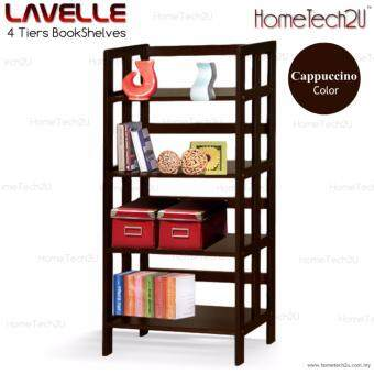 Harga Lavelle 4 Tiers Wooden Book Shelves Book Rack