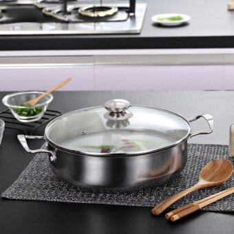 Harga 28 CM German Technology Stainless Steel Soup Pot Stockpot