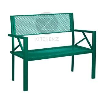 Harga Kitchen Z Outdoor Bench Chair BC5919gr Metal Bench Chair - Green