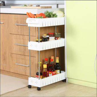 Harga GX Movable gap rack Kitchen Fridge Clearance Patching Shelf Finishing Cabinet Storage Cabinet With pulley