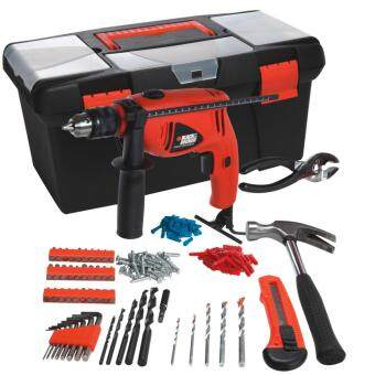 Harga HD500BX BLACK & DECKER HAMMER DRILL 550W 13MM WITH 103 ACCESSORIES