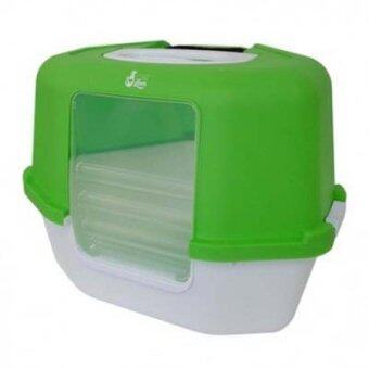 Harga Cat Love Space Saver Corner Hooded Cat Pan - Green - 56 x 45 x 43.5 cm
