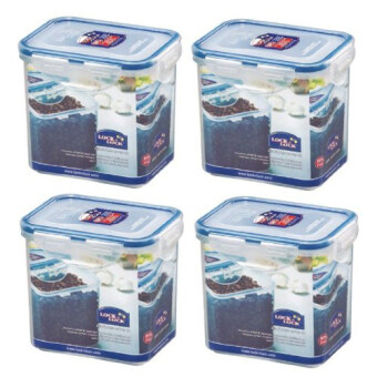 Harga LOCK & LOCK HPL808 Food Container Tall 850ml Pack of 4