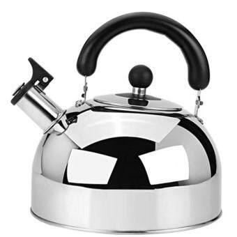 Harga Whistling Tea Kettle - 4 Liter Stainless Steel Modern Dome Teapot for Kitchen Stove Top - Decorative Brushed Silver Tea Pot - Fast Boil Steam Whistle - Induction Gas or Electric Stovetop