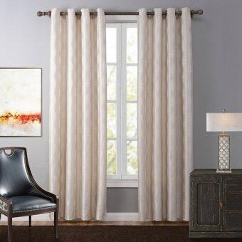 Harga 140X260CM Simple Pure Color Window curtains Fabric Polyester Beige Curtain