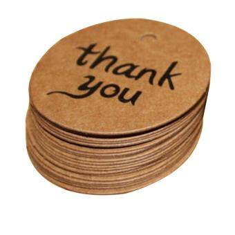 Harga 100PCS Kraft Paper Hang Tags Wedding Party Favor Label thank you Gift Cards