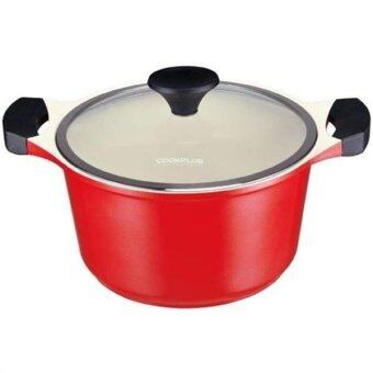 Harga Lock & Lock Cookplus Ceramic Casserole 24cm - Red