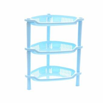 Harga NaVa Triangle 3 Layer Triangle Multipurpose Plastic Organizing Rack (BLUE)