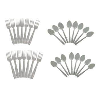 Harga 32pcs 16 Sets High Quality Stainless Steel Handy Spoon and Fork Sets