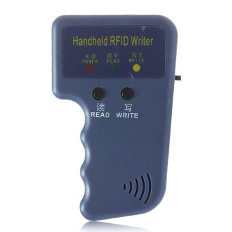 Harga EM4100 125KHz RFID Handheld ID Card Copier Writer Duplicator with 6 Writable Tags + 6 Writable Cards