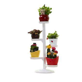 Harga Lovely Mini Garden Movable Flowers Pot Flowerpot rack White Large from Korea