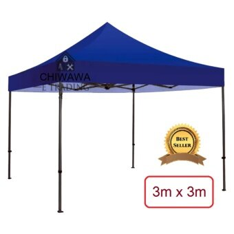 Harga 3m x 3m Extra THICKEN SOLID Foldable Canopy Tent Blue Grade A High Quality