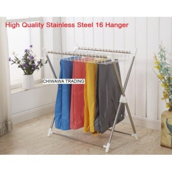 Harga X Shape High Quality Stainless Steel Retractable Clothes Drying and Hanging Hanger Rack GUARANTEE NOT RUSTY