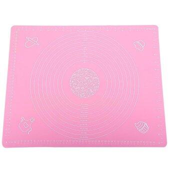Harga Pink 50*40cm Silicone Mat Baking Cake Dough Fondant Rolling Kneading Mat Baking Mat with Scale Cooking Plate Kitchen Tools