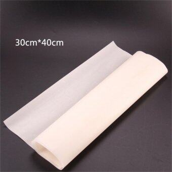Harga Greaseproof Oven Bakeware Baking Mat Pad Cooking Paper Kitchen Tool White 30*40cm