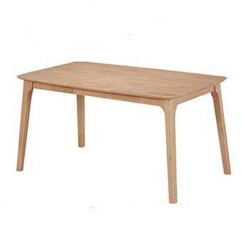Harga HUDSON SOLID RUBBERWOOD DINING TABLE LENGTH 147CM (NATURAL BEECH)