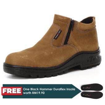 Harga Black Hammer 2000 Series Mid cut Zip on Safety Shoes (BH2882)