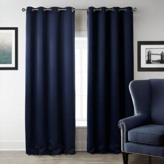 Harga 140x240cm Home Décor Solid Dark blue Window Curtains Blackout Curtain Living Room and The Bedroom