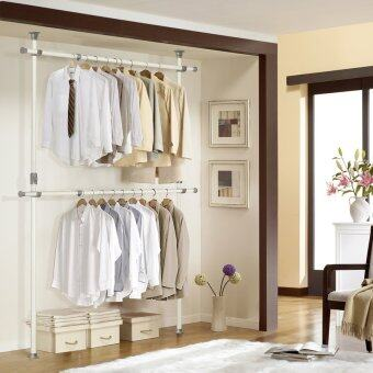 Harga DoYoung Made-In-Korea Adjustable Double Pole Shelf System