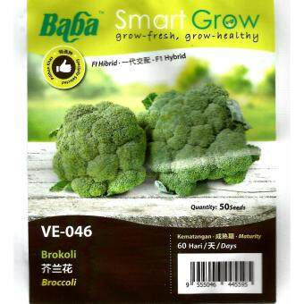 Harga BABA SMART GROW VE-046 Broccoli (Brokoli) 50 seeds