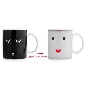 Harga 360DSC 350mL Monday Morning Cup Heat Color Change Mug White+ Black
