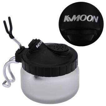 Harga KKmoon Cleaning Pot Glass Air Brush Holder Clean Paint Jar Bottle Manicures Tattoo Supply