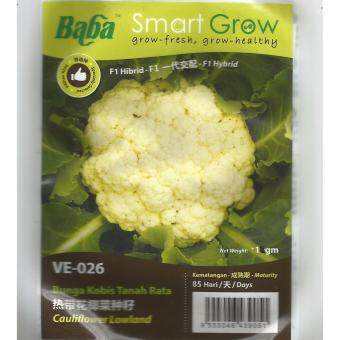Harga Baba Smart Grow Seeds VE-026 Hybrid Cauliflower Lowland (Bunga Kobis Tanah Rata) ±1G