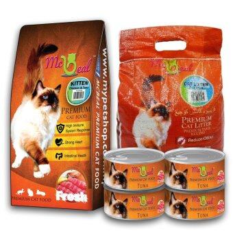 Harga McBeal Kitten Dry Cat Food 500g + 4 cans 85g McBeal Can Wet Food+ McBeal Cat litter 5L