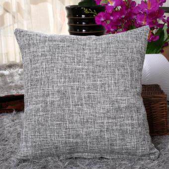 Harga 40x40cm Linen Cotton Pillowcase Solid Color Printed Pillows Zipper Home Office Decorative Pillow Cushion