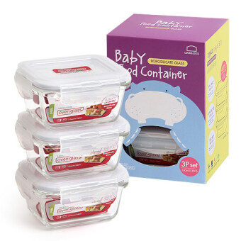 Harga LOCK & LOCK Oven Glass 160ml 3P Set (Microwave / Oven - Private container) Baby food container