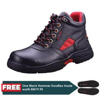 Harga Black Hammer Men Series Mid Cut Lace Up Safety Shoes (BH2992)