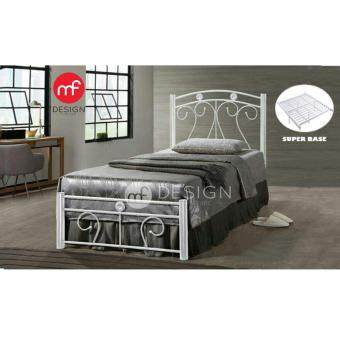 Harga MF DESIGN BELLA SINGLE SIZE METAL BED (WHITE)