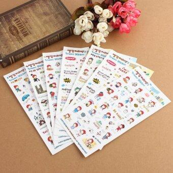 Harga Anne's Travel Sticker Korea 6 Sheets Diary Scrapbook Photo Gift Decor Korean