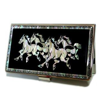 Harga Antique Alive Metal Horse Business Credit Card Case Holder (Black)