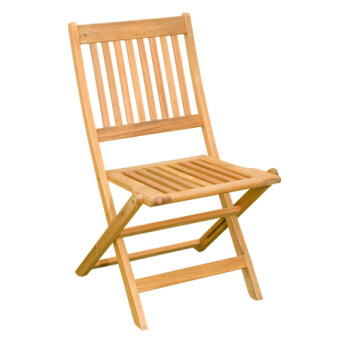 Harga 2 pcs HK Manhattan ( Folding Side Chair) Outdoor / Garden Chair (Acacia Wood)