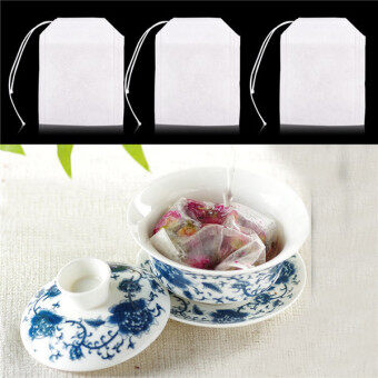 Harga Empty Tea Bag 200 Bags / Batch Tea Bag String Healing Seal Filter Paper Tea Bag 5.5 × 7CM Herbal Loose Tea