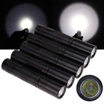 Harga 5X Portable CREE Q5 2000 Lumens LED Mini Flashlight Torch Light 3 Modes 18650